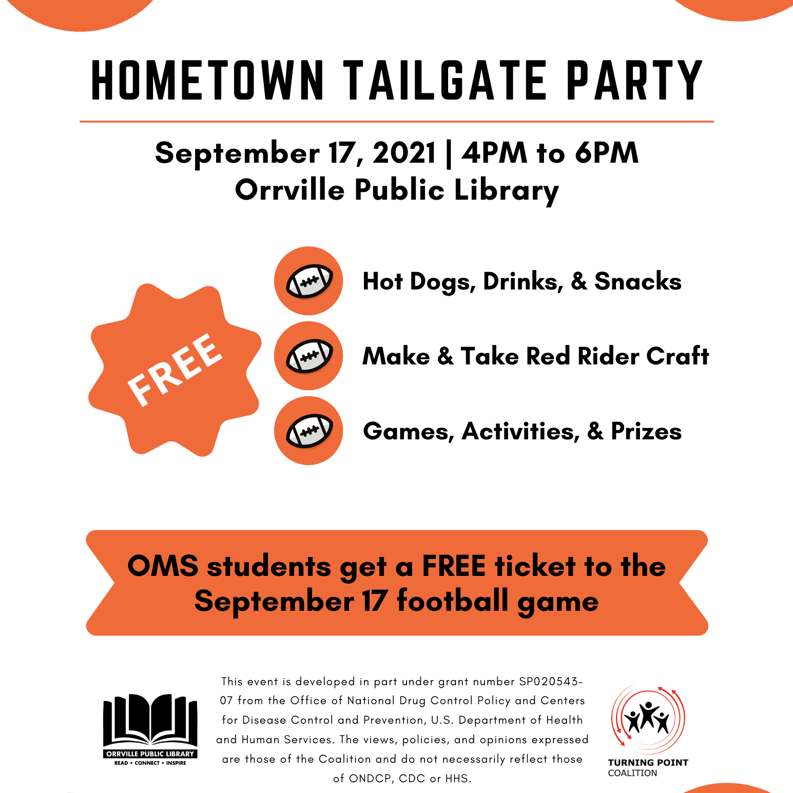 Hometown Tailgate Party Flyer 2021