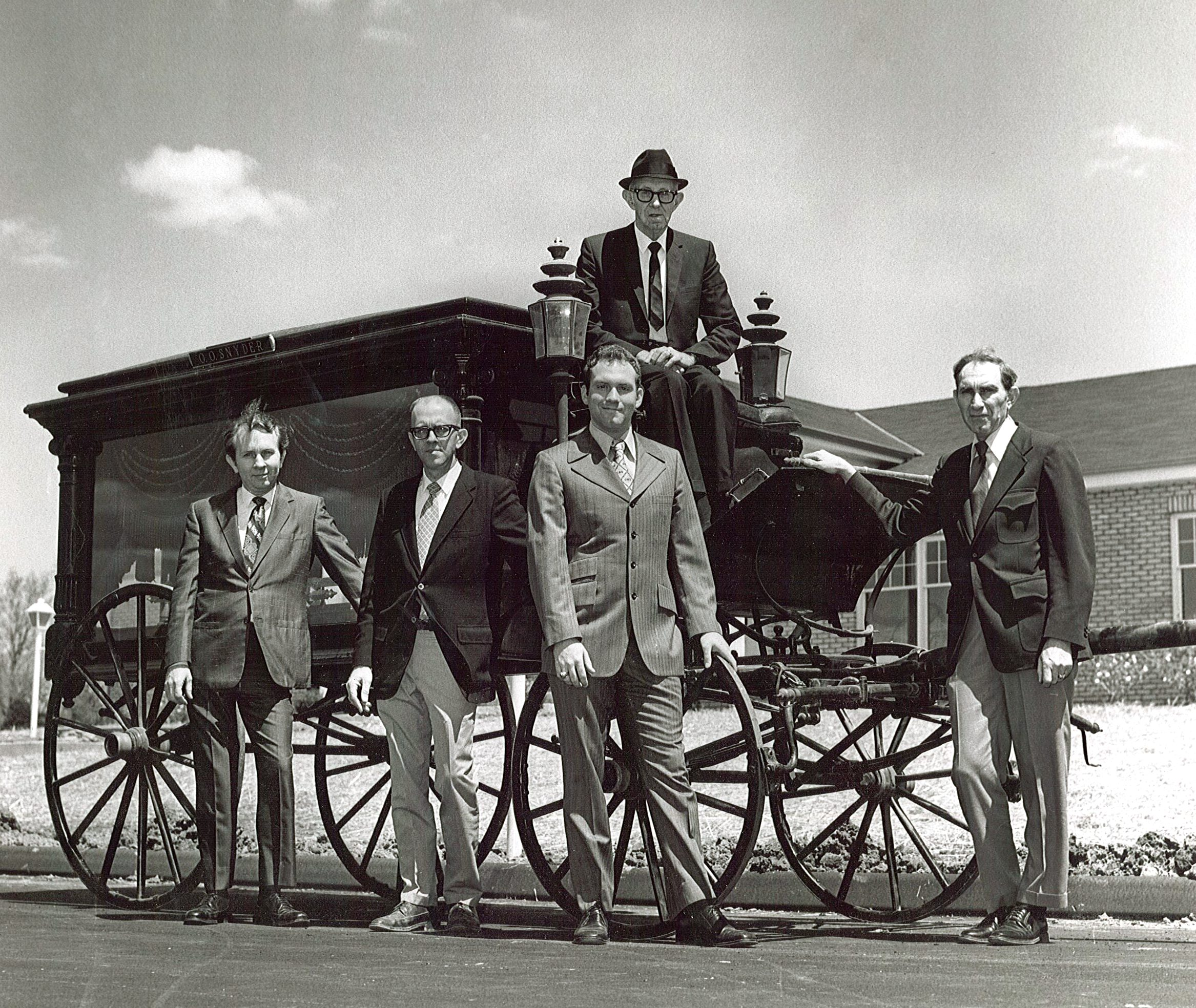Horse Drawn Hearse (Ora and 4 sons)